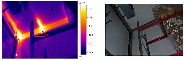 термограмма морозильной камеры